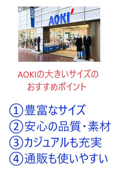 AOKIの大きいザイズのおすすめの3つのポイント